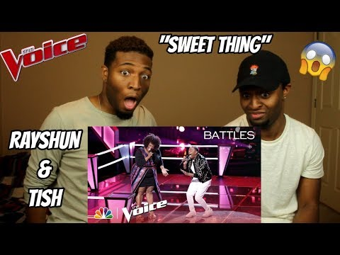 The Voice 2018 Battle  Rayshun LaMarr vs Tish Haynes Keys: Sweet Thing AMAZING!!
