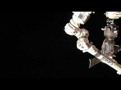 شاهد: وصول مركبة سويوز إلى محطة الفضاء الدولية  - 07:53-2019 / 3 / 16