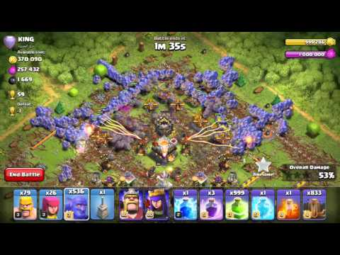 attack with 999 bowlers   clash of clans (No Xmodgames)