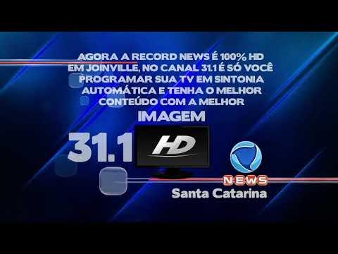 Record News SC HD em Joinville - divulgação (05/2015)