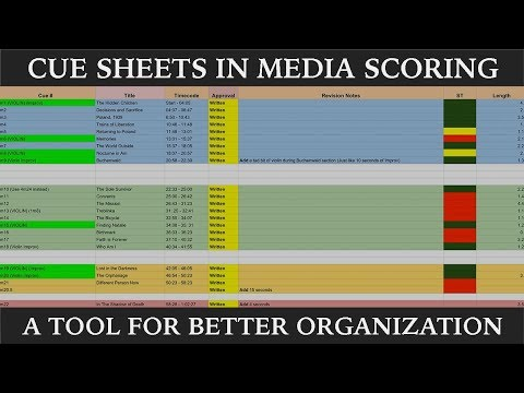 The Importance of Cue Sheets in Media Scoring