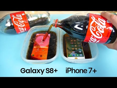 Samsung Galaxy S8 Plus vs iPhone 7 Plus Coca-Cola FREEZE Test 15 Hours!