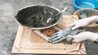 How to Make Gloves-Cement / Unique Ideas