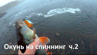 Ловля окуня на спиннинг (воблер крэнк) видео ч.2