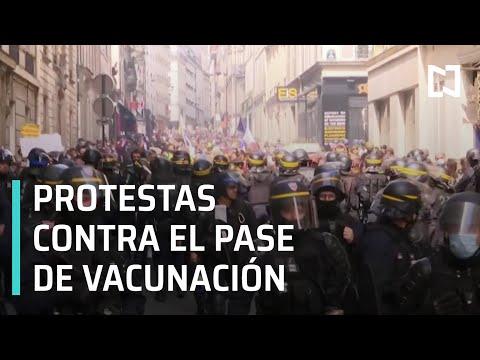 Protestas en París contra el pase de vacunación Covid - Sábados de Foro