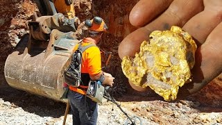 Gold Nuggets with Metal Detector in Gold Mine Australia EN thumbnail