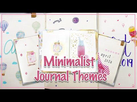 21 Minimalist Themes For Journalling | 2018 - 2020 Bullet Journal Flipthrough