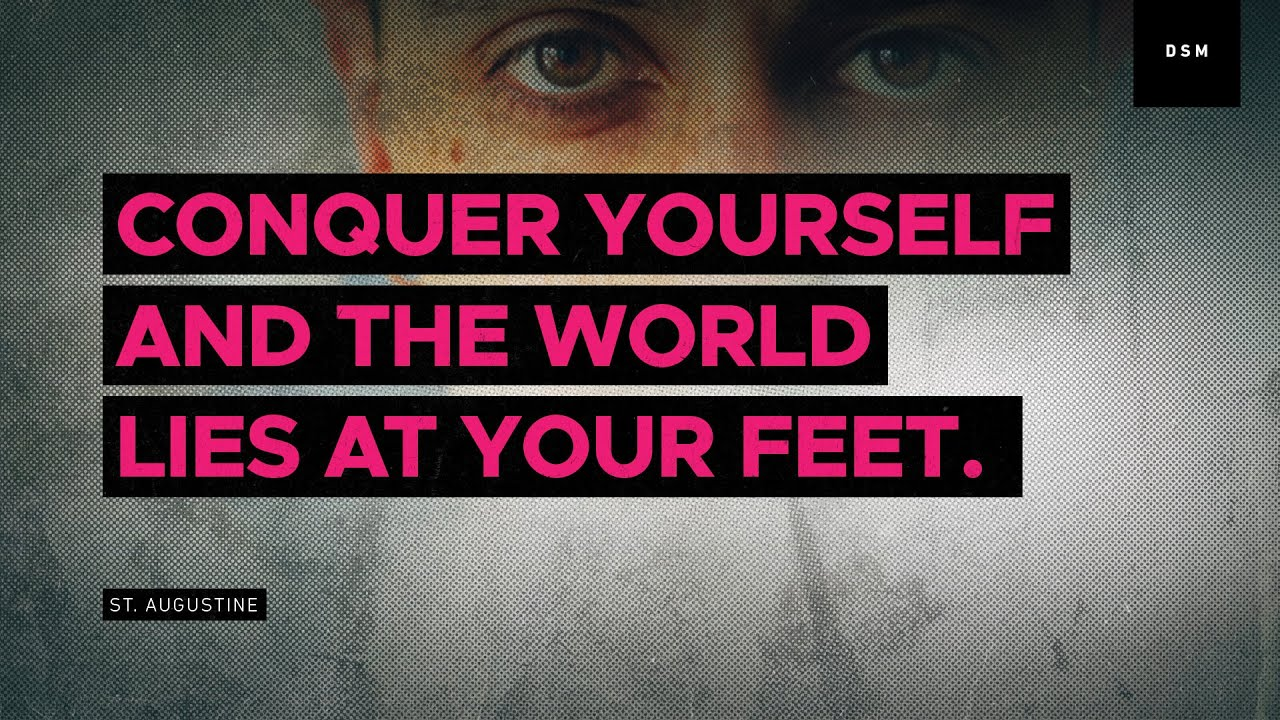 Sales Motivation Quote Conquer Yourself And The World Lies At Your