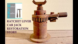 Ratchet lever car jack restoration