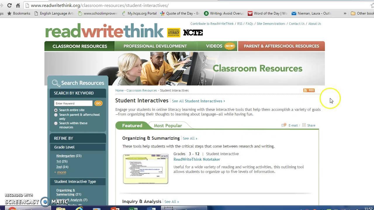 High School Literacy Web Tools - Roselle Public Schools