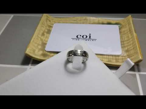 COI Jewelry Cobalt Chrome Couple Wedding Band Ring - JT1664