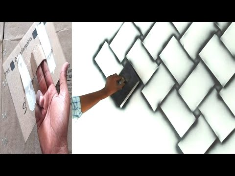 How to make brick wall  easy method using black spray