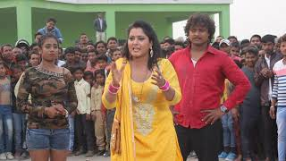 Shooting of a scene of film with heroine