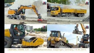 CAT D6N LGP, HAMM H 16i, LIEBHERR, Mercedes-Benz,... Göppingen, Germany, 2019.