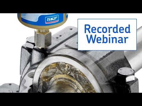 SKF Knowledge webinar  Smeermanagement in de voedingsmiddelenindustrie
