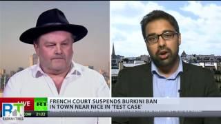 France 24: Ahmadiyya Muslim Asif Arif debates Burkini Ban