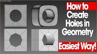 Wie Erstellen Sie Löcher in der Geometrie - 3ds-Max - Einfachste Weg