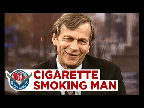 The XFiles' Cigarette Smoking Man, Canadian actor William B. Davis, 1999