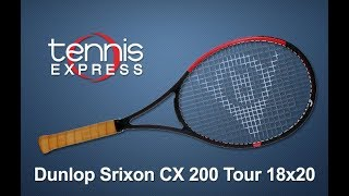 Dunlop CX 200 Tour 18x20 Tennis Racquet Review | Tennis Express