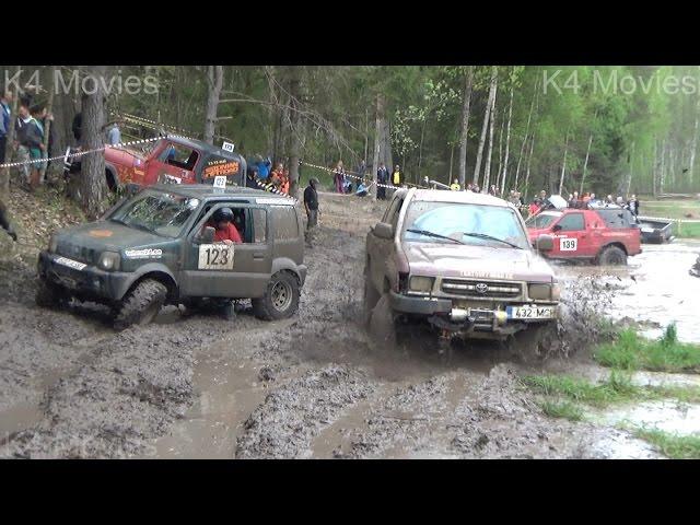 SUVs Off-Road race, vs water field