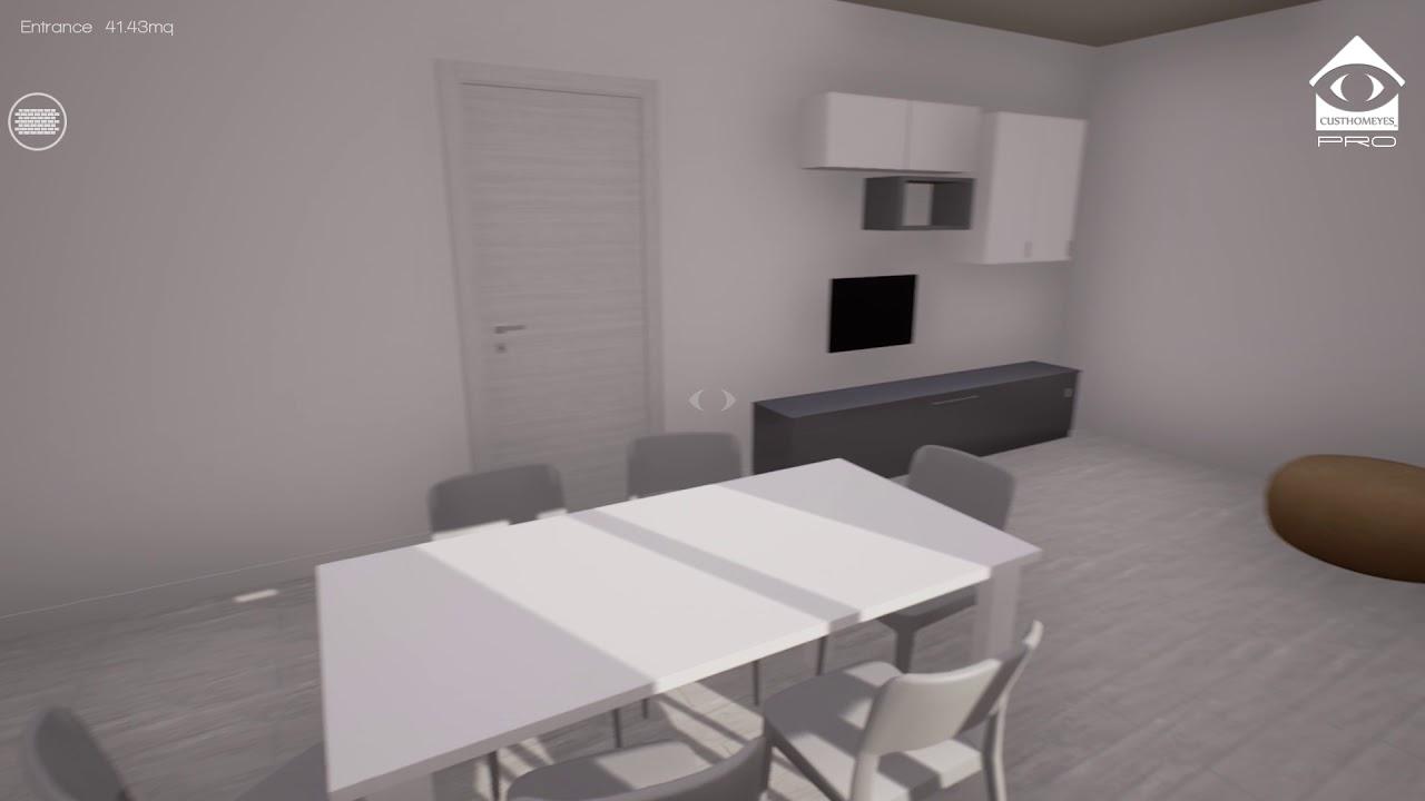 Ristrutturare Appartamento 35 Mq progetto in realtà virtuale - appartamento 80mq