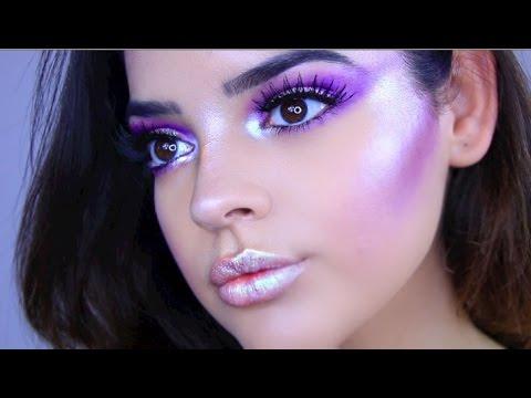 Space Princess Halloween Makeup Tutorial | Jackie Flowers - YouTube