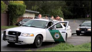 Car Chase though Fairfax CA April 5 2013- Quick clip - of Dimitri Storm in stolen car to Woodacre CA