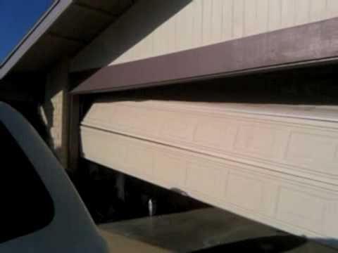 Garage Door Repair Broken Cablev Youtube