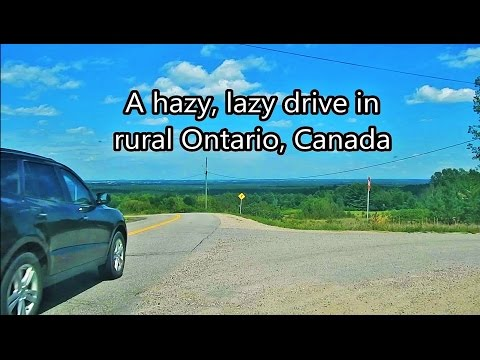 Dashcam - Hazy Lazy Summer Drive into Ottawa (with music)