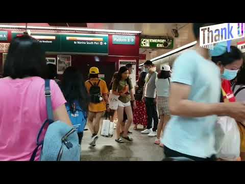 SINGAPORE SUASANA TERKINI Orchard Road Singapore Kereta Api Hari Minggu Full Rame!! New Normal