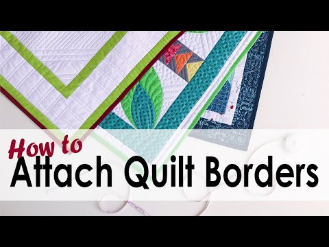 How To Attach Quilt Borders That Lay Flat With On Williams Street