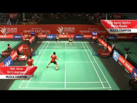 R. Agung Saputra / W. Nayaka  (MUSICA CHAMPION) VS Moh. Ahsan / B. Angriawan (PB DJARUM)