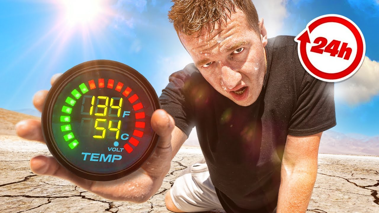 Surviving 24 Hours In The HOTTEST Place On EARTH