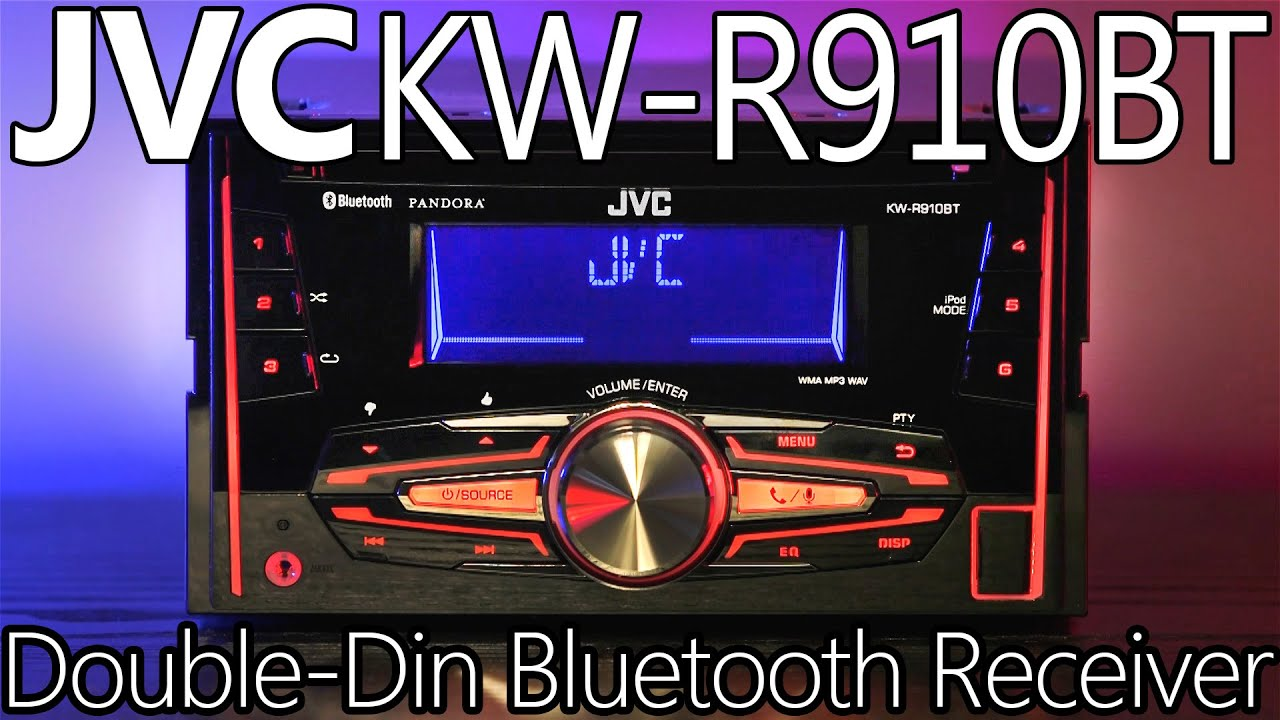 jvc kw r910bt double din bluetooth receiver review youtube. Black Bedroom Furniture Sets. Home Design Ideas