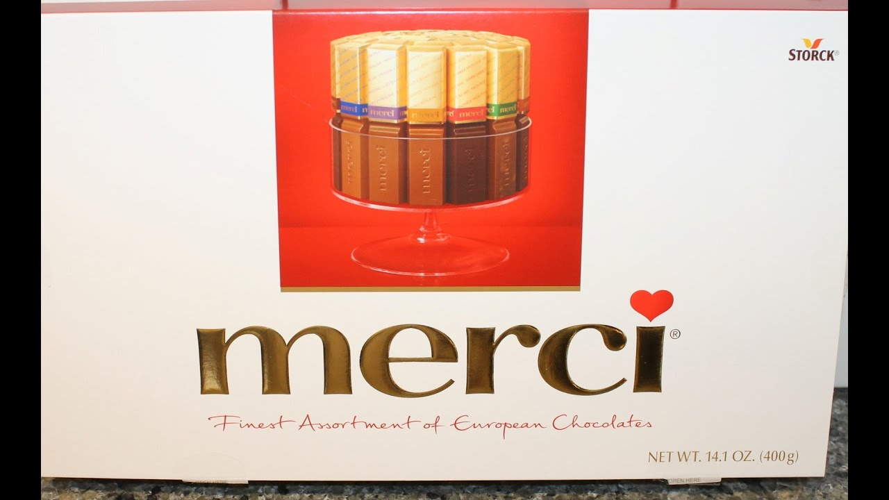 Merci Finest Assorted European Chocolates Review - YouTube