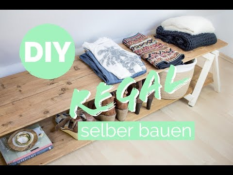 regal selber bauen regal mit klappbock bauen how to holzbock bauen diy regal youtube. Black Bedroom Furniture Sets. Home Design Ideas