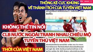 Bất Ngờ Các CLB Nước Ngoài Tranh Nhau Chiêu Mộ Tuyển Thủ Việt Nam, Giật Mình Thống Kê Khủng Việt Nam