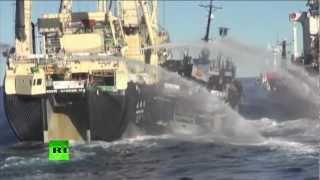 Морской бой в Антарктике (ВИДЕО)