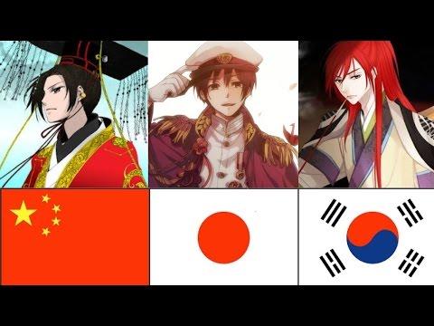 Chinese Vs Korean Vs Japanese Emperors - YouTube