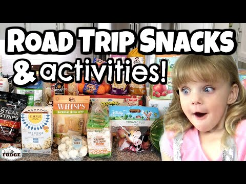 Cross Country with FOUR KIDS �� Road Trip SNACKS and ACTIVITIES