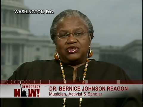 Dr. Bernice Johnson Reagon Remembers Musical Icon Odetta 2/3 on Democracy now 12/30/08