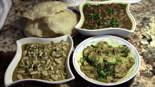 Halwa Puri || Aloo ki Tarkari || Cholay || Restaurant style || Authentic