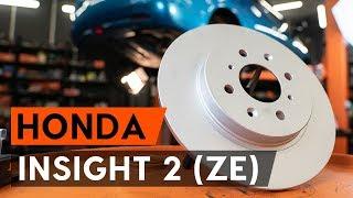 Kaip pakeisti Stabdžių diskas HONDA INSIGHT (ZE_) - vaizdo vadovas