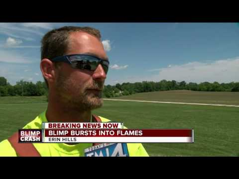 Thumbnail: Blimp crashes and explodes into flames near U.S Open golf course