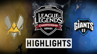 VIT vs. GIA - EU LCS Week 6 Day 1 Match Highlights (Spring 2018)