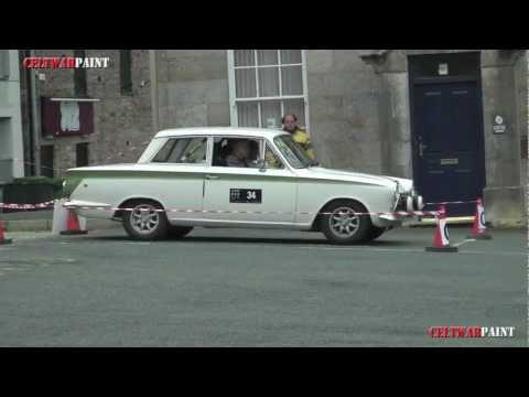 MK 1 Lotus Cortina 1964 Short Auto Test at Caernarfon Harbour car park
