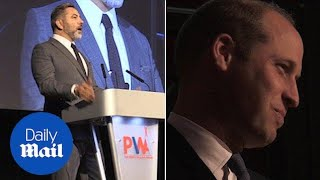 'Clooney didn't show up to his wedding': David Walliams introduces Prince William