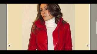 3:4 en cuir femme rouge