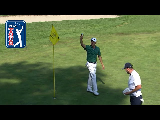 Justin Thomas holes out on 72nd hole at Mexico Championship