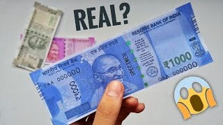 NEW Rs 1000 NOTE. REAL OR FAKE? | MUST WATCH!